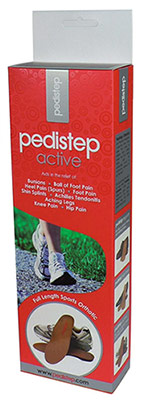 Pedistep Orthotic for sports shoes